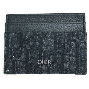 Dior Trotter Pass holder Card Case Canvas x Leathe